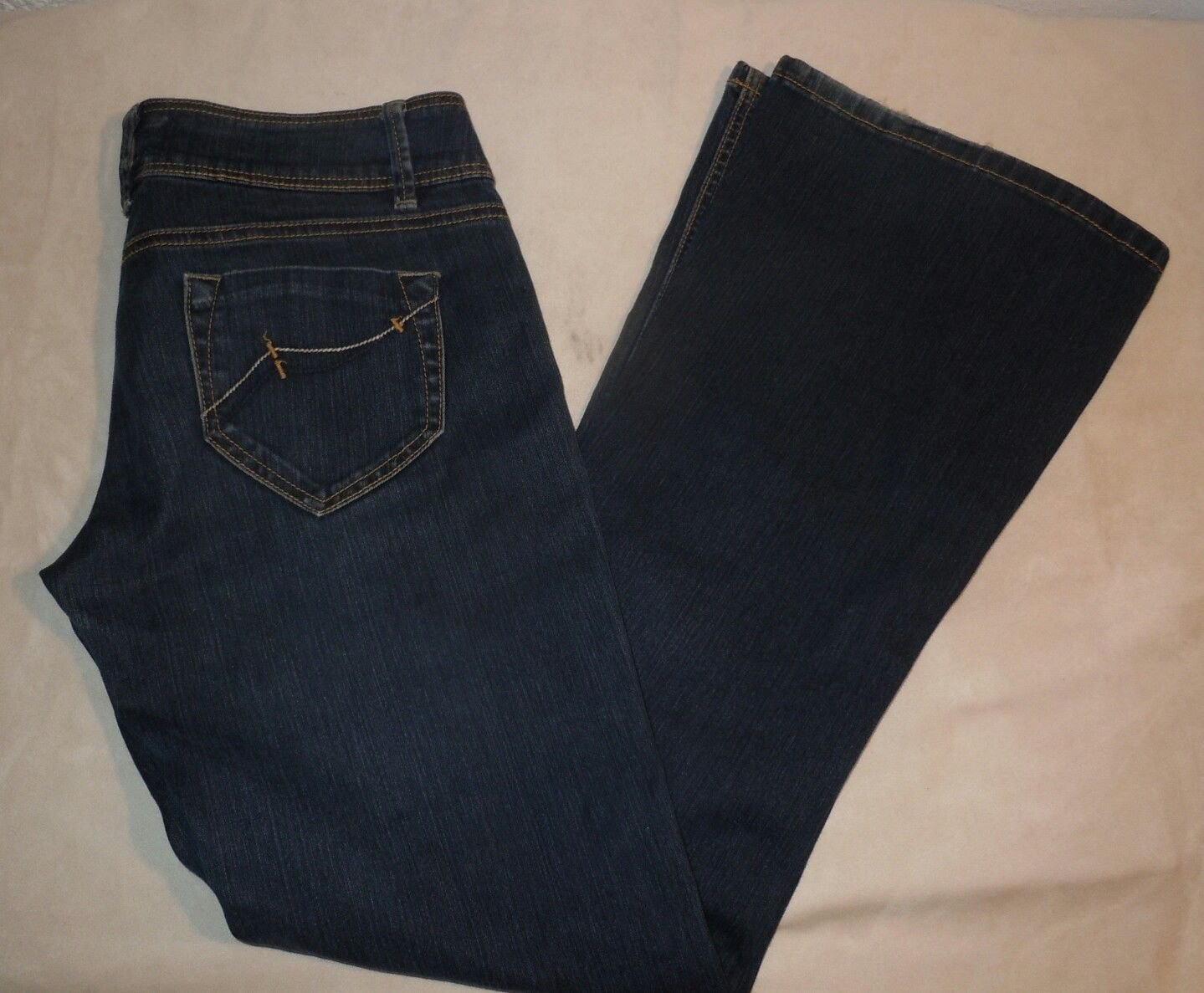 Topshop Moto Womens Jeans Dark Wash Flare Size 28