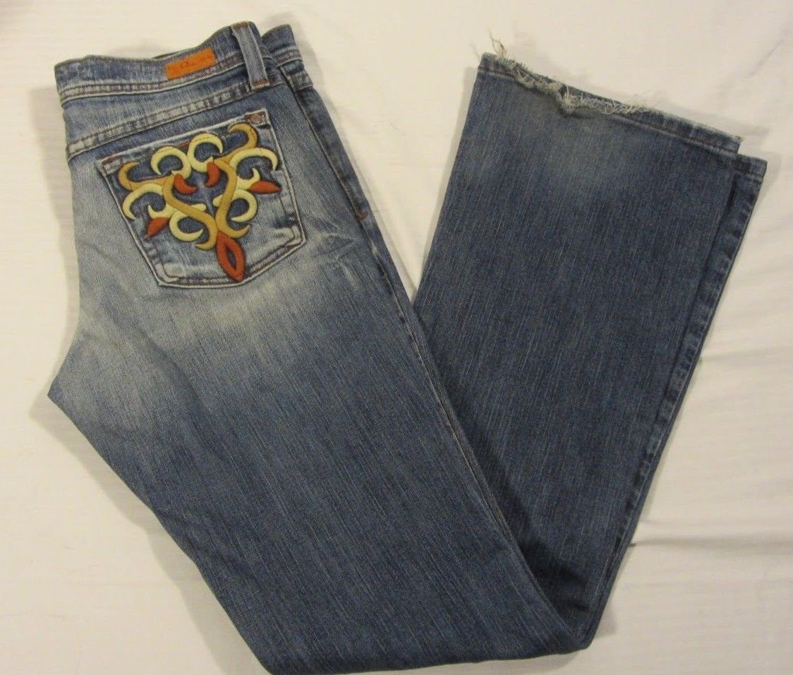 Juniors Plastic by GLY Medium Wash Boot Cut Jeans Size 7