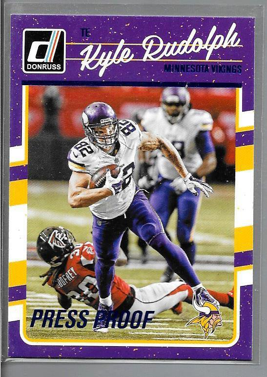 2016 Kyle Rudolph Football  #174 Vikings Press Proofs blue Donruss  tight end
