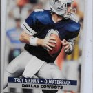 1991 Troy Alkman Pro Set 1991  Football Card # 128  Dallas Cowboys QB