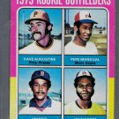 1975 Topps Baseball #616  Rookie Outfleiders  Augustine Rice Scott and Mangual