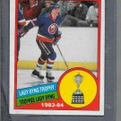 1984-85 O Pee Chee Mike Bossy # 376 Lady Byng Trophy