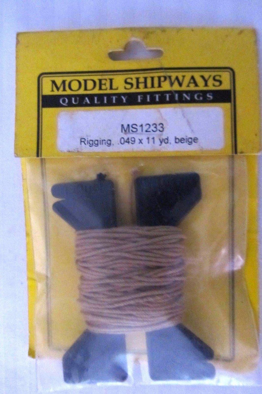 Model Shipways Rigging MS1233 .049x11 yd Beige