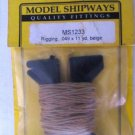 Model Shipways Rigging MS1233 .049x11 yd Beige