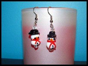 Darling Snowmen Piereced Earrings Winter/Holiday NEW