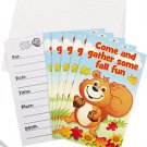 Fall Critters Invitations 8 Pcs NEW