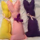 Cute stuffed bunnies 3 pieces