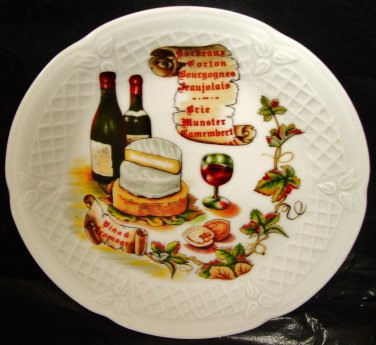 Old porcelain plate from Limoges, France