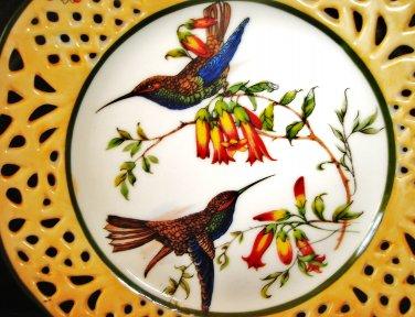 Collectible Porcelain Plate / Porcelain Art, Bird Series