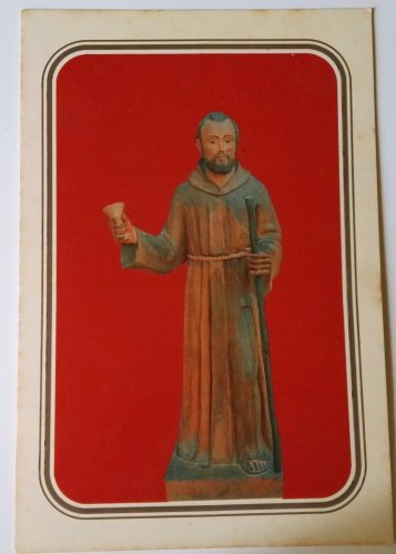 Old religious stamp of Blessed Peter of San Jose Bethencourt