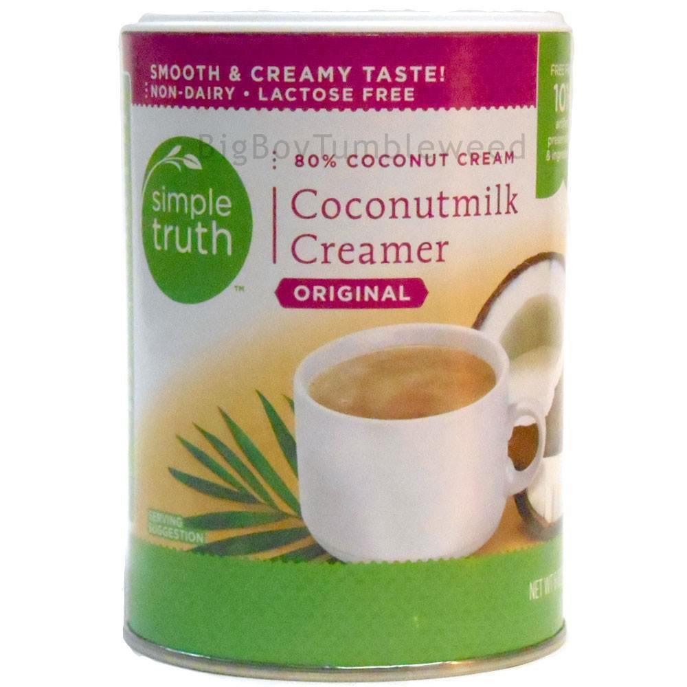 Simple Truth Coconut Milk Coffee Creamer original Flavor 6 oz powder drink mix