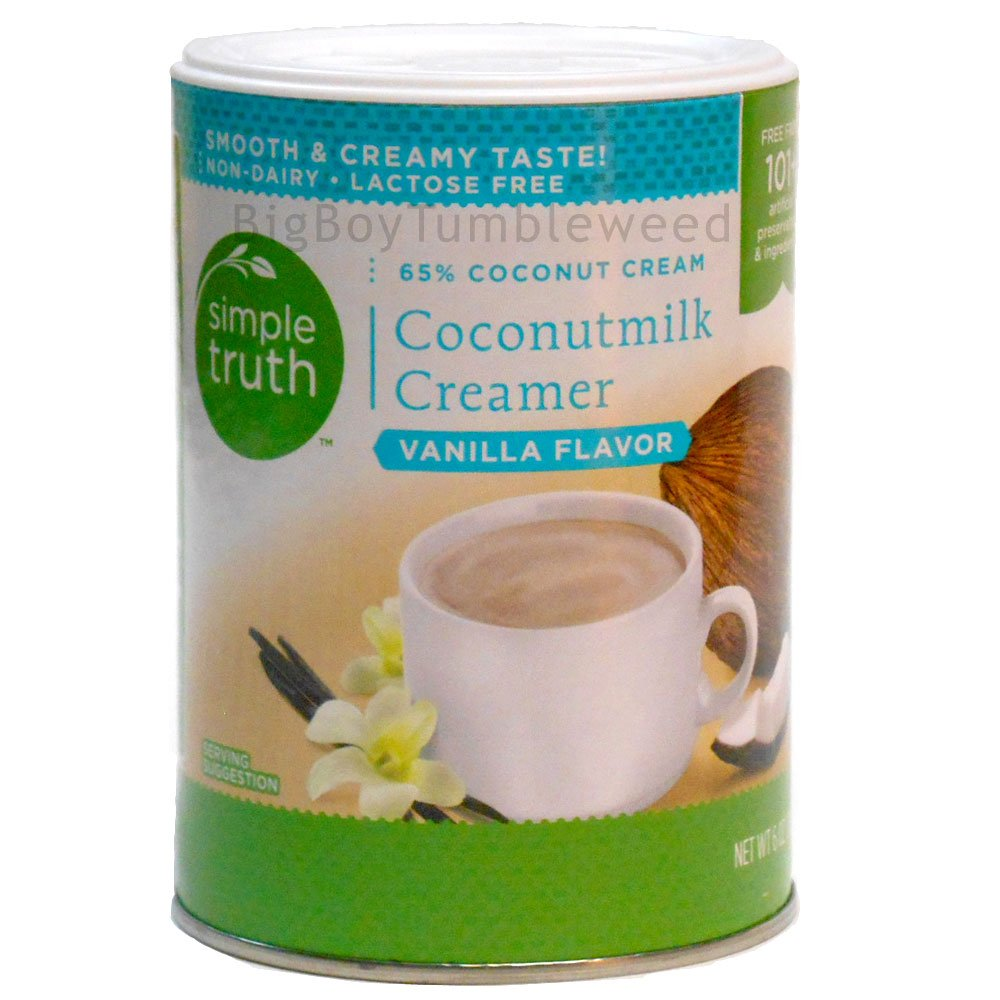 Simple Truth Coconut Milk Coffee Creamer Vanilla Flavor 6 oz powder drink mix