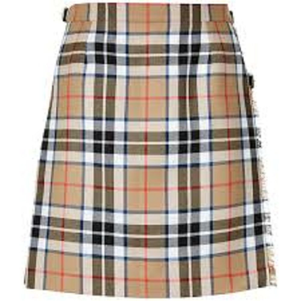 Men's 34 Size Traditional Highlands Thompson Camel Tartan Kilt Camel Thomson Tartan 100% Wool Kilt