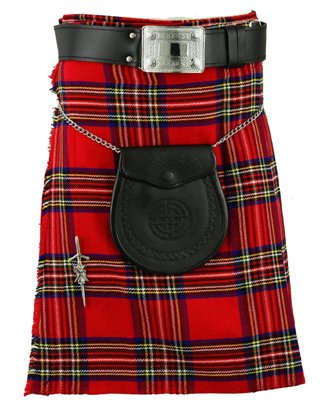 New 60 Size Men's Traditional Royal Stewart Tartan Kilts Scottish Highland Tartan kilt