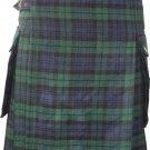 40 Inches Size Scottish Highland Wears Active Men Modern Pocket Blackwatch Tartan Prime Kilts