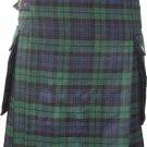 48 Inches Size Scottish Highland Wears Active Men Modern Pocket Blackwatch Tartan Prime Kilts
