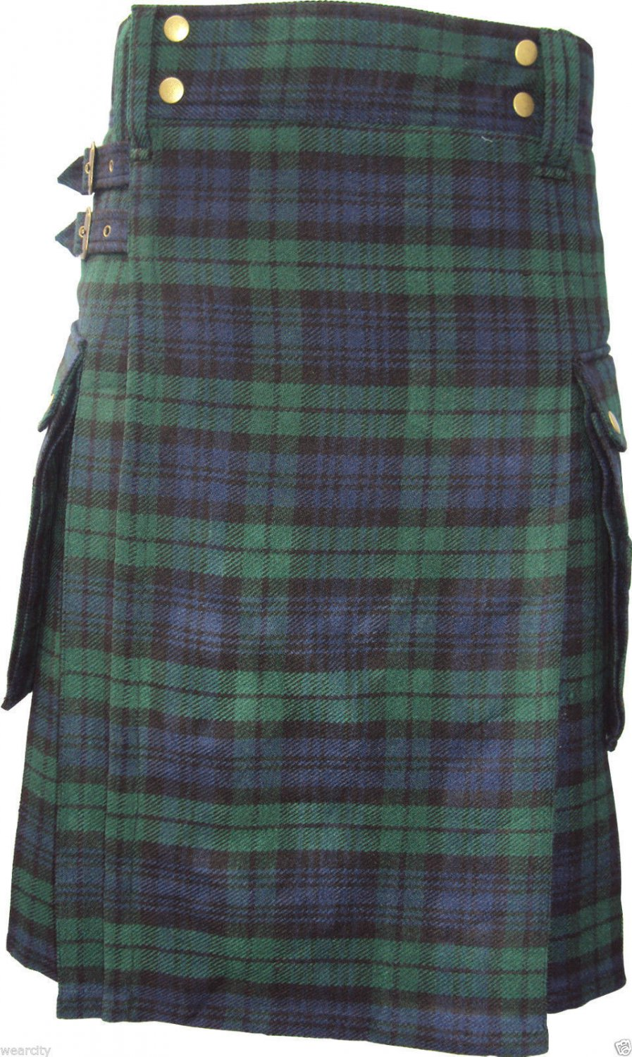 60 Inches Size Scottish Highland Wears Active Men Modern Pocket Blackwatch Tartan Prime Kilts