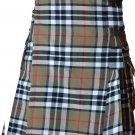 30 Size Scottish Highlander Active Men Modern Pocket Camel Thompson Tartan Kilts