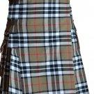 38 Size Scottish Highlander Active Men Modern Pocket Camel Thompson Tartan Kilts
