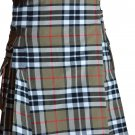 56 Size Scottish Highlander Active Men Modern Pocket Camel Thompson Tartan Kilts