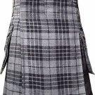 56 Waist Scottish Highlander Modern Pocket Granite Gray watch Tartan Kilt
