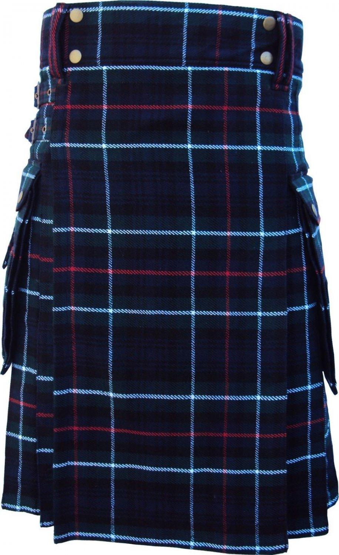 54 Size Active Men Mackenzie Tartan Modern Pockets Prime Utility Kilt