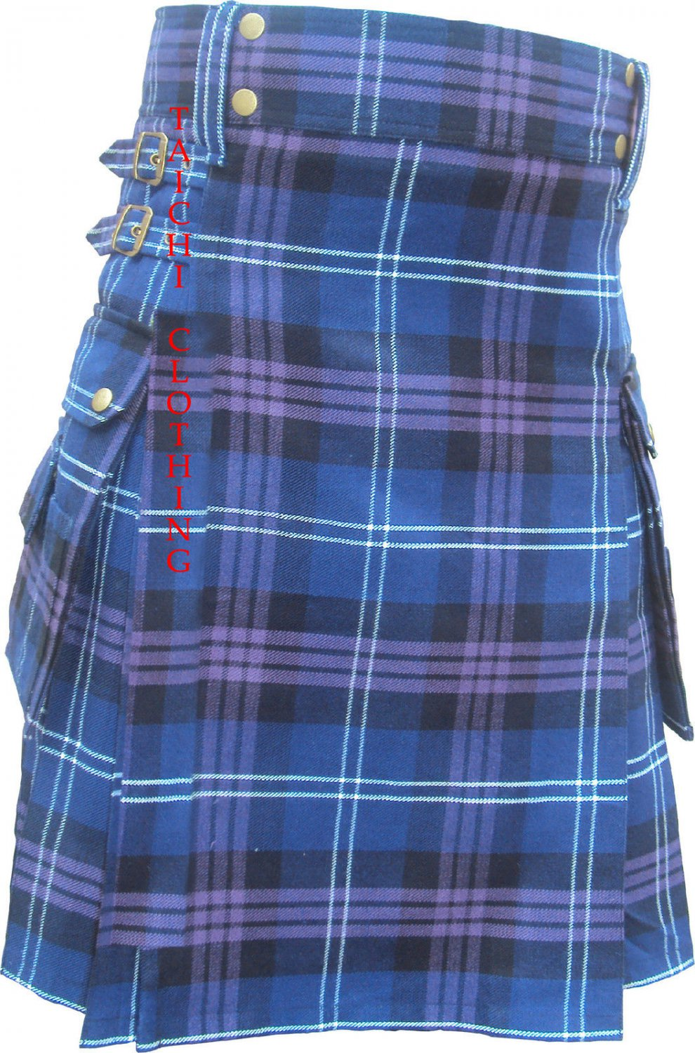 New 38 Size Scottish Highland Wear Active Men Heritage/Pride of Scotland Tartan Modern Pocket Kilt