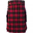 New 30 Size Scottish Highland Wallace Tartan Modern Utility Pocket Active Men New Kilt