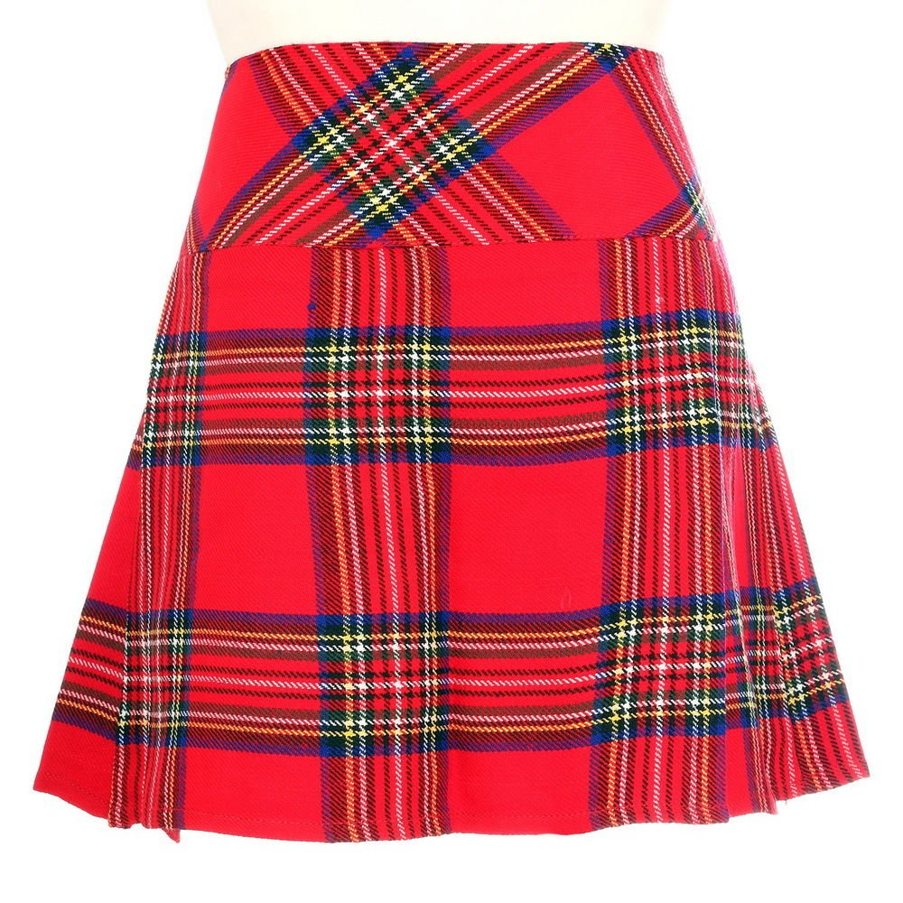 30 Size New Ladies Royal Stewart Tartan Scottish Mini Billie Kilt Mod Skirt