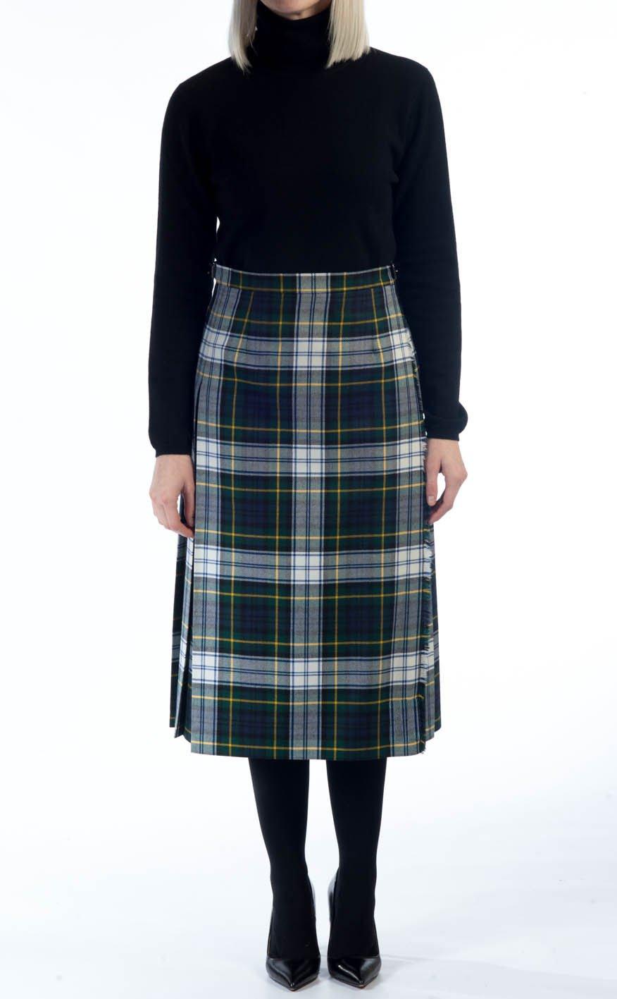 36 Waist New Dress Gordon Ladies Billie Pleated Kilt Knee Length Skirt in Dress Gordon Tartan
