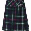 New 26 Size Ladies Mackenzie Billie Pleated Kilt Knee Length Skirt in Mackenzie Tartan