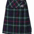 New 32 Size Ladies Mackenzie Billie Pleated Kilt Knee Length Skirt in Mackenzie Tartan