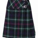 New 36 Size Ladies Mackenzie Billie Pleated Kilt Knee Length Skirt in Mackenzie Tartan