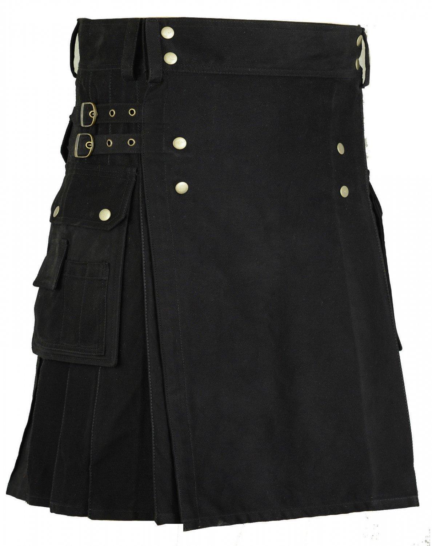 Size 30 New Scottish Cotton Kilt Deluxe Goth Outdoor Utility Kilts Highland Skirt