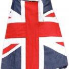 "48"" Waist UK Flag Hybrid Utility Kilt United Kingdom Flag Kilt with Custom Pattern"