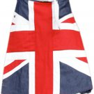 "50"" Waist UK Flag Hybrid Utility Kilt United Kingdom Flag Kilt with Custom Pattern"
