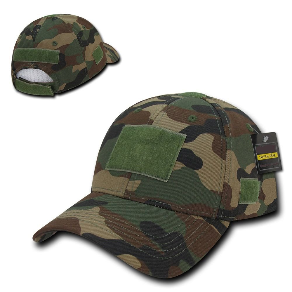 Woodland Camo Tactical Operator Contractor Low Crown Patch Ball Cap Hat