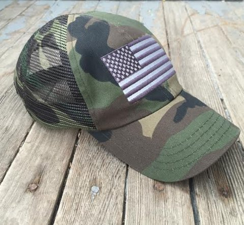 Digital Camo USA US American Flag United States America Army Polo Baseball Hat Cap