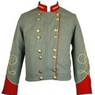Military Piper Drummer Band Scottish Wool Doublet Jacket Red Collar