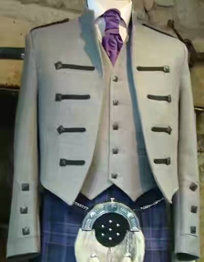 New Custom Made Kyle Jacket with 5 button waistcoat in shadow grey Jacket & Waistcoat