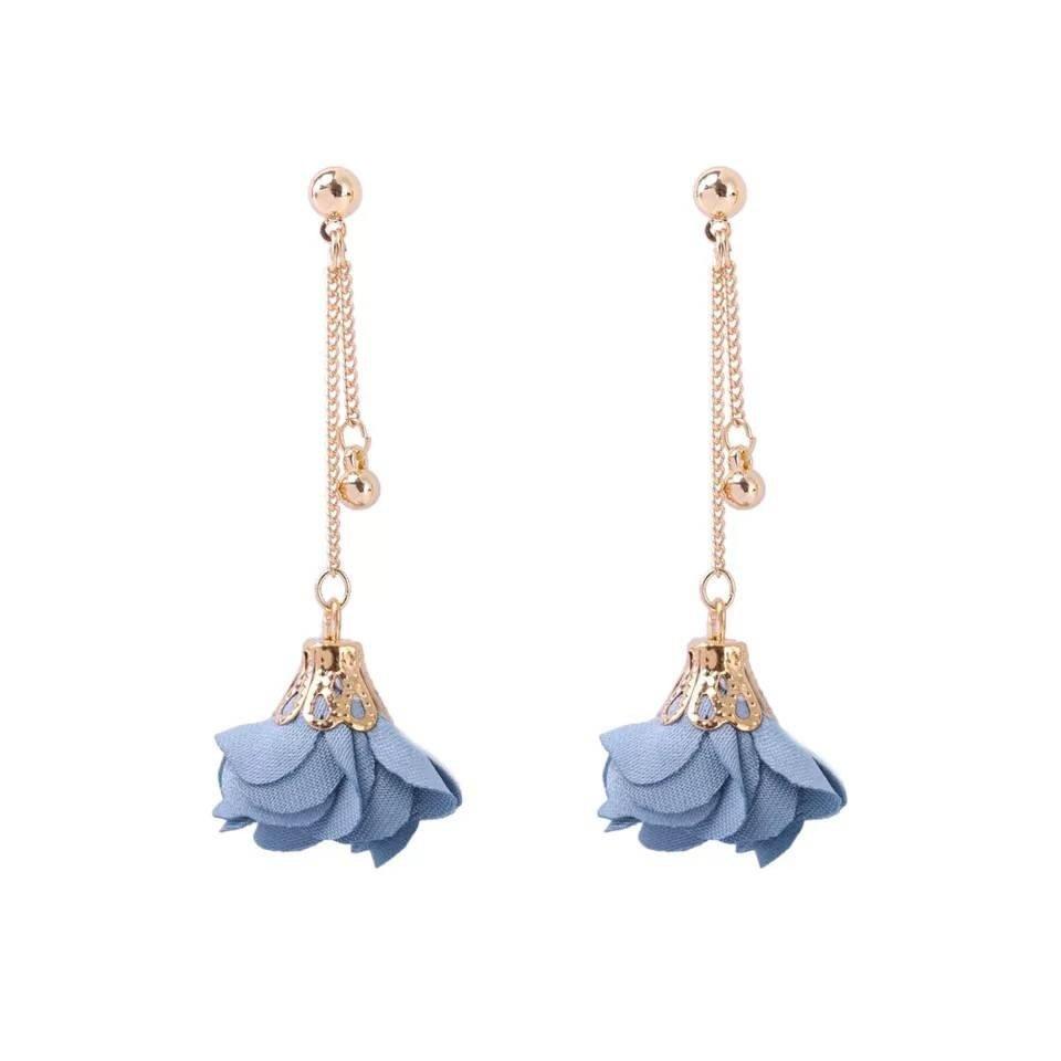 2017 new Creative Silk Flower Earrings Fashion Lady Earrings