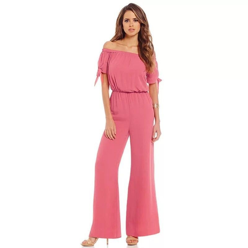 2017 new  women's waist Strapless Jumpsuit trousers cuffs are snow yarn rope catsuit.