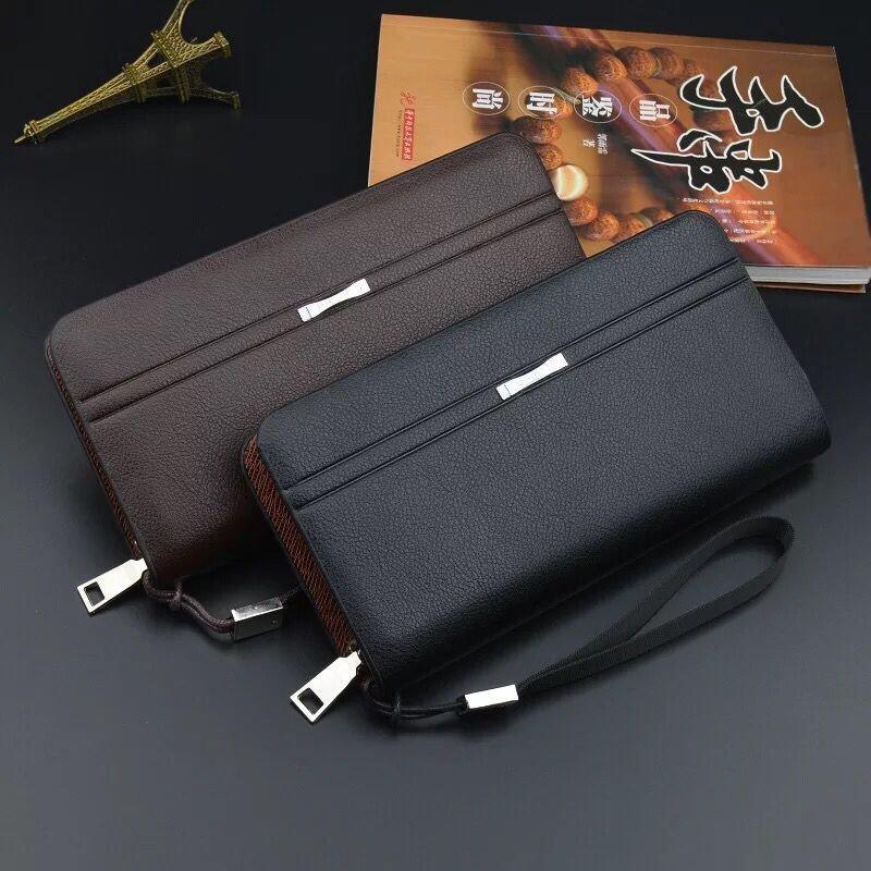 Men's wallet large hand bag zipper male Wallet