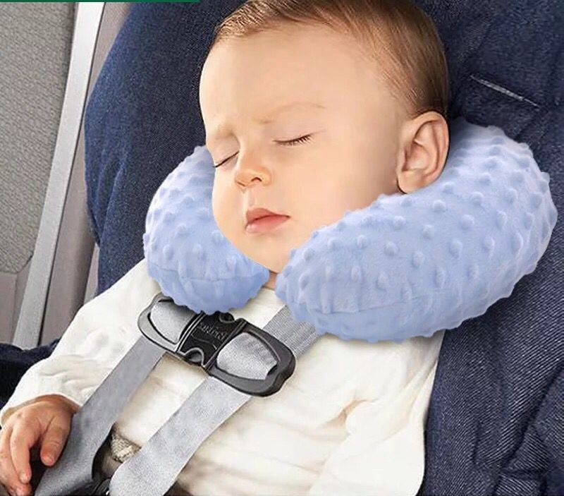 Washable baby children travel inflatable pillow neck pillow U-shaped pillow