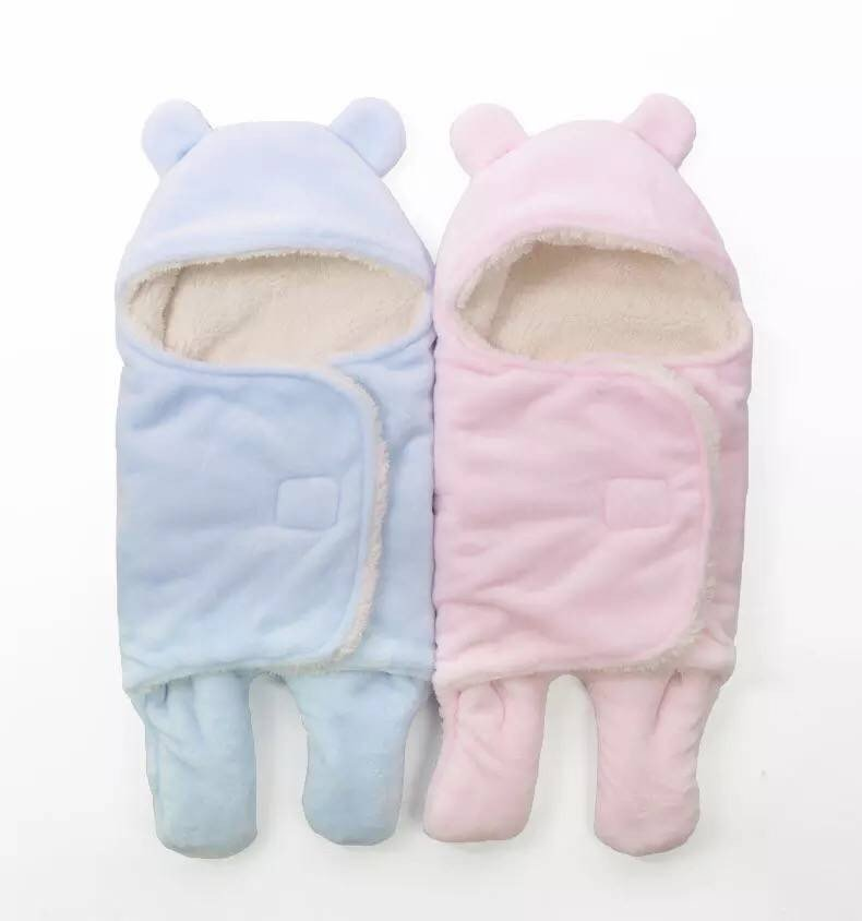 Thick warm winter sleeping infant sleeping bag cart straddle the newborn baby sleeping bag