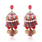 Retro Bohemia handmade tassels, gold coins, earrings, jewelry