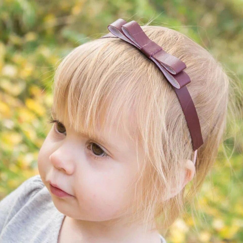 New parent-child ladies sweet children headdress headband bow belt leather