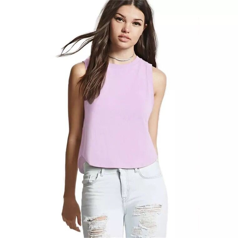 New summer ladies T-shirts and blouses solid small vest