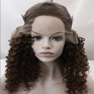 afro kinky curly synthetic lace front wig for black women