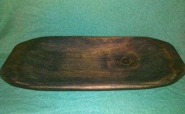 Primitive Rustic Wooden Dough Trench Bowl #10 Soft Maple OOAK (EC0568-3500)